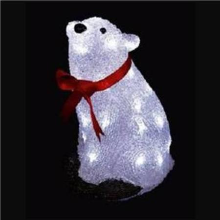 - 30cm Polar Bear LED Acrylic Christmas Light