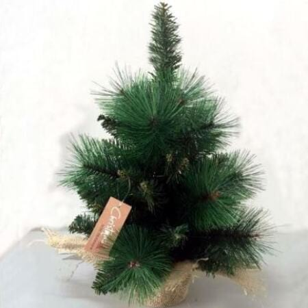 45cm Mixed Pine Tabletop Artificial Green Christmas Tree in Sack
