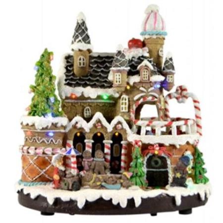 Battery Operated LED Light Up Candy House Christmas Decoration