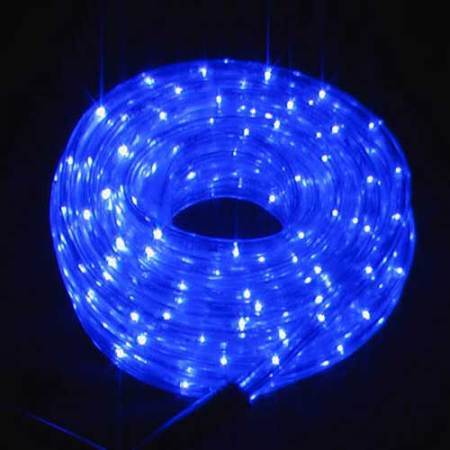 240v Led Connectable Rope Light 10m Blue