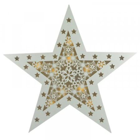 LED Timber Star Christmas Decoration with Lights