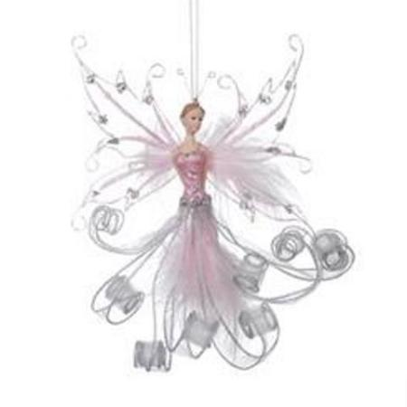 200mm Fairyland Pixie Christmas Tree Ornament Pink