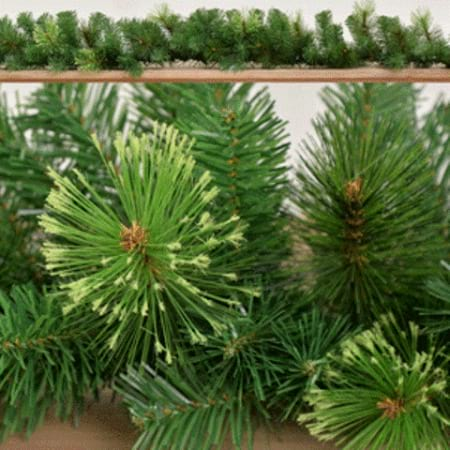 200cm Mixed Pine Green Leaf Christmas Garland