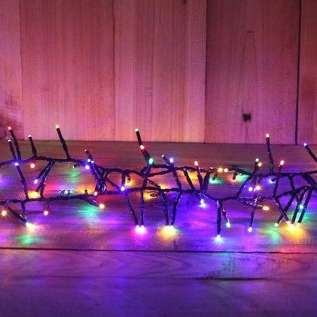720L 9m Multi Colour LED Cluster Fairy Light String With 8 Functions and Timer