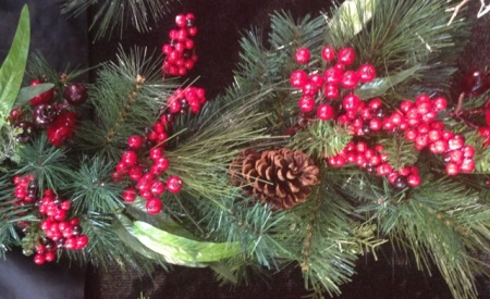 180cm Red Berry and  Pine Cone Christmas Garland