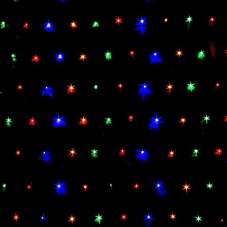 225 LED Multi Colour Connectable Net Lights 3 Metres x 1.5 Metres