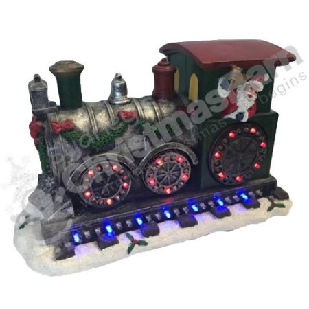 Led Santa Train Christmas Decoration with Lights and Music