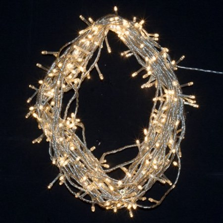 600 LED Wedding Fairy Lights Warm White on Clear Cable 55 metres