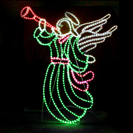 LED Large Angel Christmas Rope light Silhouette
