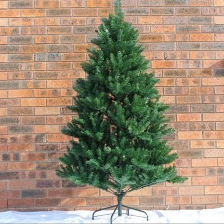 2.1m  Hinged Green Artificial Christmas Tree