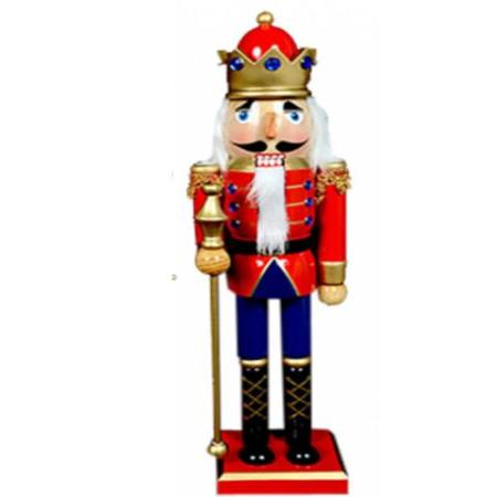 38cm Timber Traditional Nutcracker Christmas Decoration