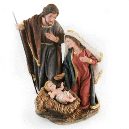 28cm Holy Family Nativity Scene