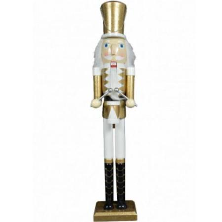90cm Timber Drummer Nutcracker Christmas Decoration