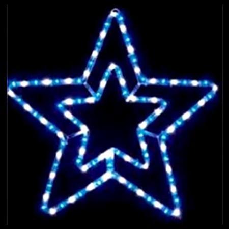 Sydneys christmas barn 55cm led blue and white rope light star christmas light silhouette aloadofball Image collections