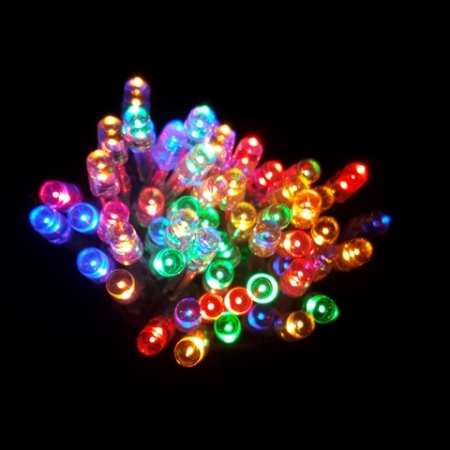 100 LED Battery Operated fairy lights in Multi colour 10M