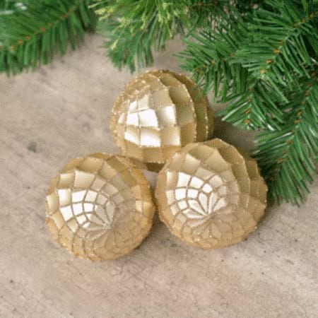 80mm Champagne Shatterproof Champagne Bauble Christmas Tree Decoration