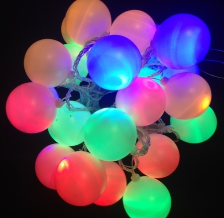 60mm Connectable Led Multi Colour Ball Party Fairy Lights