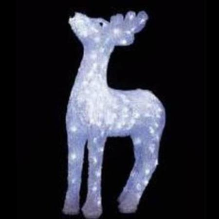 Outdoor 60cm Acrylic Head up Doe Reindeer with 176 White LED Christmas Light