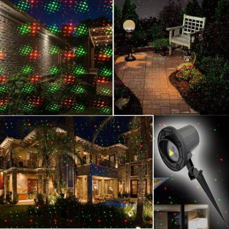Outdoor Moving Led Red and Green Starry Firefly Laser Christmas Light with Remote