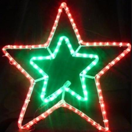 55cm LED Red And Green Rope Light Star Christmas Light Silhouette