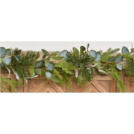 160cm Mixed Green Leaf Christmas Garland