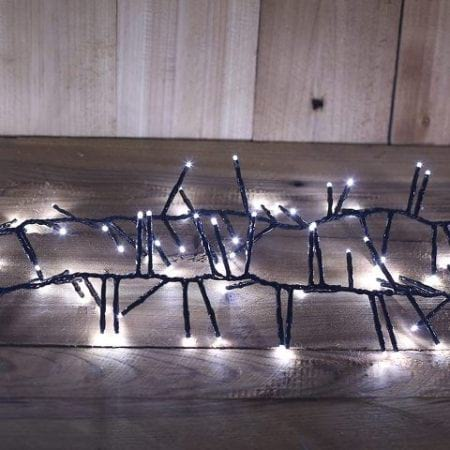 720L 9m  White LED Cluster Fairy Light String With 8 Functions and Timer