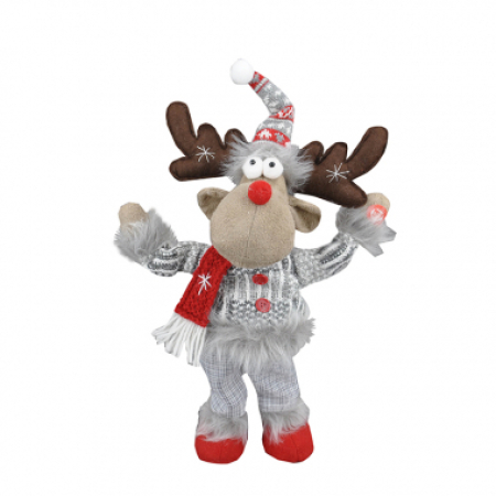 31cm Musical, dancing and waving Moose Christmas decoration