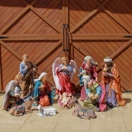 11 piece large Outdoor 106cm Poly resin Nativity Set