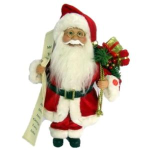 40cm musical santa with list and gift bag christmas decoration