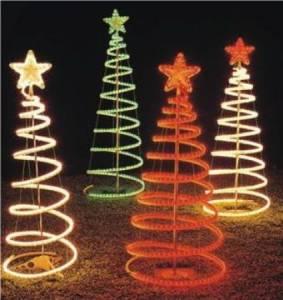 Rope Light Spiral Christmas Tree