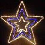 White Blue White Christmas  Star Rope Light silhouette replacement rope
