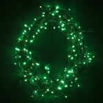 20m 200 Green Fairy Lights on Green Wire