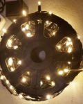 455 LED Commercial Fairy Lights 50 metre Warm White on Black Rubber Cable