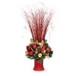 Decorated Christmas Decoration Table Centrepiece