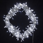 600  light LED Fairy Lights in  White on Clear Wire 55 metres