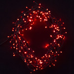 292 light LED Fairy Lights in Red on Green Wire 20 metres