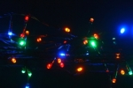 500  light LED Fairy Lights in Multi Colour on Green Wire 45 metres