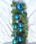 270cm Blue and Silver Pre decorated Christmas Garland