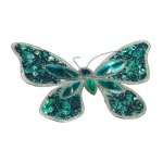 150mm Peacock Crystal Beaded Butterfly Clip Christmas Tree Decoration