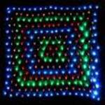 LED 256 Light  Net Light Multi Colour with Green wire 1.5 metres x 1.5  metres