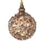 75mm Rose Gold Glimmer Bauble Christmas Tree Decoration