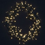 600  light LED Fairy Lights in Warm White on Green Wire 55 metres