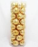 Pk40 60mm Shiny Gold Christmas Baubles value pack