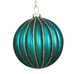 100mm Glass Peacock Bauble Christmas Tree Decoration