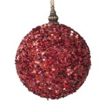 100 mm Red Glimmer Bauble Christmas Tree Decoration