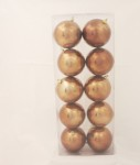 100mm Chocolate Brown Baubles in shiny and matt packet of 10