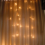 180 light LED Wedding Backdrop Curtain Wedding lights 3 metre x 2 5 metre Drop Warm White on clear wire