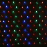 LED Net Lights 320L  2m x2m Multi colour on Green wire