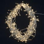 200 light LED Fairy Christmas Lights Warm White Clear Wire 14 metres