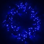 200 light LED Blue Fairy Lights on Green Wire 13.9 metres